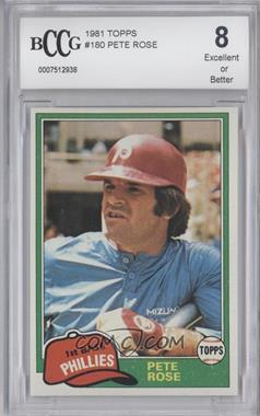 1981 Topps #180 - Pete Rose [ENCASED]