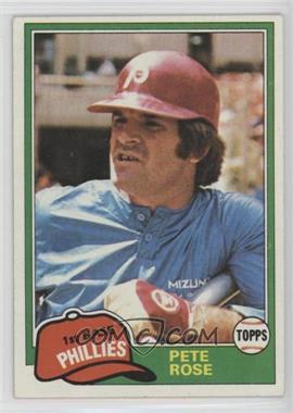 1981 Topps #180 - Pete Rose