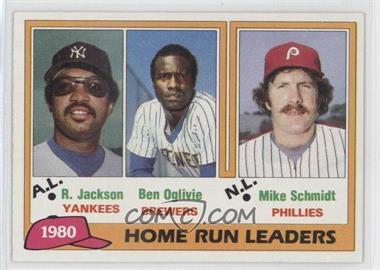 1981 Topps #2 - Home Run Leaders (Reggie Jackson, Ben Oglivie, Mike Schmidt)