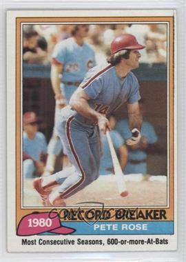 1981 Topps #205 - Pete Rose