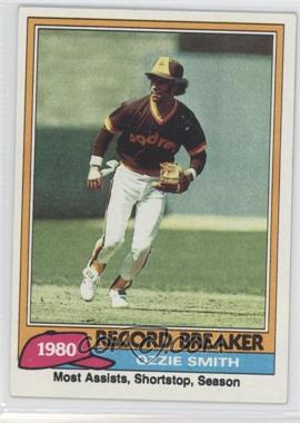 1981 Topps #207 - Ozzie Smith