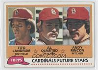 Cardinals Future Stars (Tito Landrum, Al Olmsted, Andy Rincon) [Good to&nb…