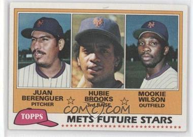 1981 Topps #259 - Juan Berenguer, Hubie Brooks, Mookie Wilson