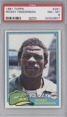 1981 Topps #261 - Rickey Henderson [PSA8]