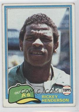 1981 Topps #261 - Rickey Henderson