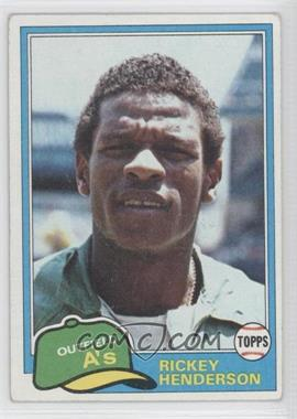 1981 Topps #261 - Rickey Henderson [Good to VG‑EX]