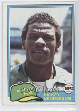 1981 Topps #261 - Rickey Henderson [GoodtoVG‑EX]