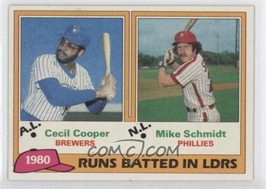 1981 Topps #3 - Cecil Cooper, Mike Schmidt