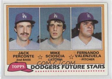 1981 Topps #302 - Jack Perconte, Mike Scioscia, Fernando Valenzuela