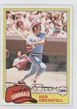 1981 Topps #32 - Ken Oberkfell
