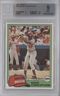 1981 Topps #375 - Dave Concepcion [BGS 9]