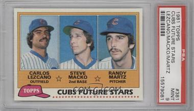 1981 Topps #381 - Carlos Lezcano, Steve Macko, Randy Martz [PSA9]