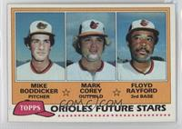 Mike Boddicker, Mark Corey, Floyd Rayford