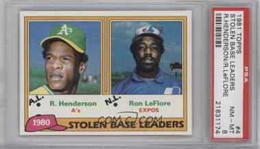 1981 Topps #4 - Ron LeFlore, Rickey Henderson [PSA8]