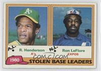 Ron LeFlore, Rickey Henderson [Good to VG‑EX]