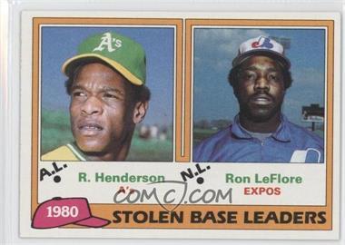 1981 Topps #4 - Ron LeFlore, Rickey Henderson