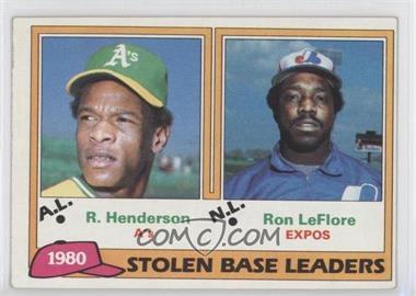 1981 Topps #4 - Ron LeFlore