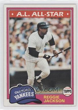 1981 Topps #400 - Reggie Jackson
