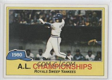 1981 Topps #401 - Kansas City Royals (KC Royals) Team