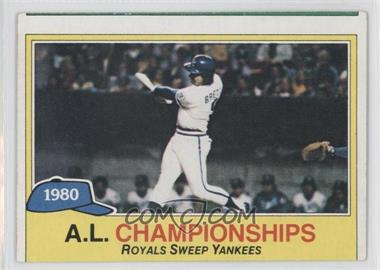 1981 Topps #401 - Kansas City Royals (KC Royals) Team