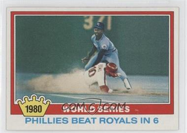1981 Topps #403 - 1980 World Series