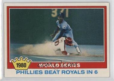1981 Topps #403 - 1980 World Series