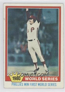 1981 Topps #404 - Philadelphia Phillies Team