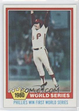 1981 Topps #404 - Philadelphia Phillies Team