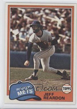 1981 Topps #456 - Jeff Reardon