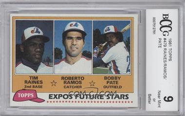 1981 Topps #479 - Tim Raines, Bob Pate, Roberto Ramos [ENCASED]