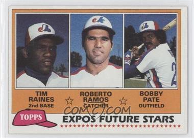 1981 Topps #479 - Tim Raines, Bob Pate, Roberto Ramos