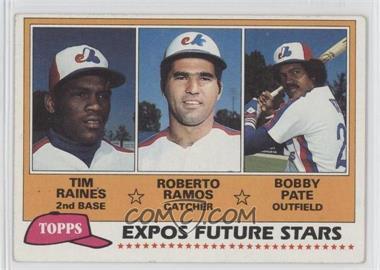 1981 Topps #479 - Tim Raines, Bob Pate, Roberto Ramos [GoodtoVG‑EX]