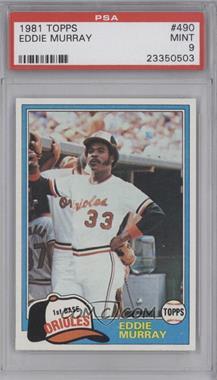 1981 Topps #490 - Eddie Murray [PSA9]