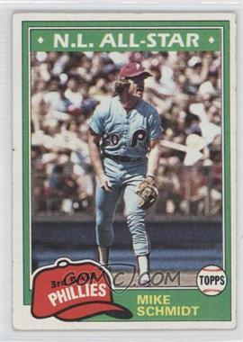 1981 Topps #540 - Mike Schmidt