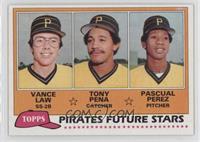 Vance Law, Tony Pena [C], Pascual Perez