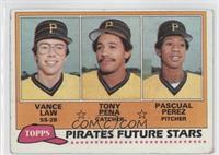 Vance Law, Tony Pena, Pascual Perez [GoodtoVG‑EX]