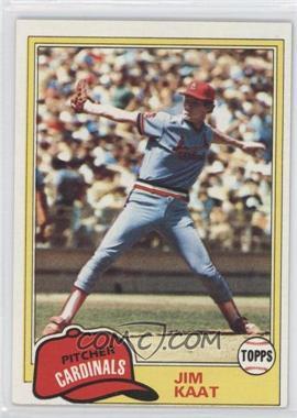 1981 Topps #563 - Jim Kaat