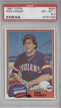1981 Topps #564 - Ron Hassey [PSA8.5]