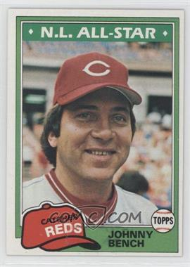 1981 Topps #600 - Johnny Bench