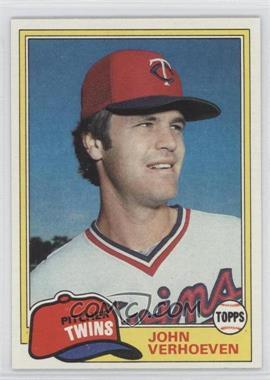 1981 Topps #603 - John Verhoeven