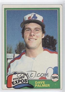1981 Topps #607 - Dave Palmer