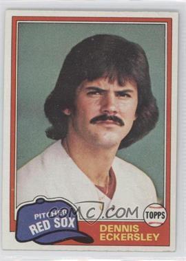 1981 Topps #620 - Dennis Eckersley