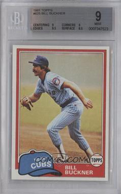 1981 Topps #625 - Bill Buckner [BGS9]