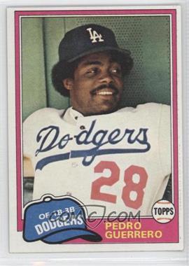 1981 Topps #651 - Pedro Guerrero