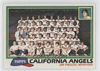 California Angels Team Checklist (Jim Fregosi, Manager)