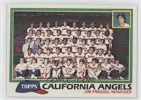 California Angels Team Checklist (Jim Fregosi, Manager)