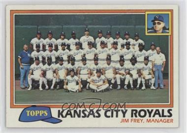 1981 Topps #667 - Kansas City Royals (KC Royals) Team