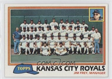 1981 Topps #667 - Kansas City Royals (KC Royals) Team