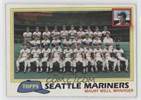 Seattle Mariners Team Checklist (Maury Wills, Manager)