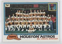 Houston Astros Team Checklist (Bill Virdon, Manager)